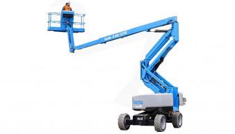 machine operator on Genie Z 60/37 FE Hybrid Articulated Boom Lift Z 60/37 FE Hybrid
