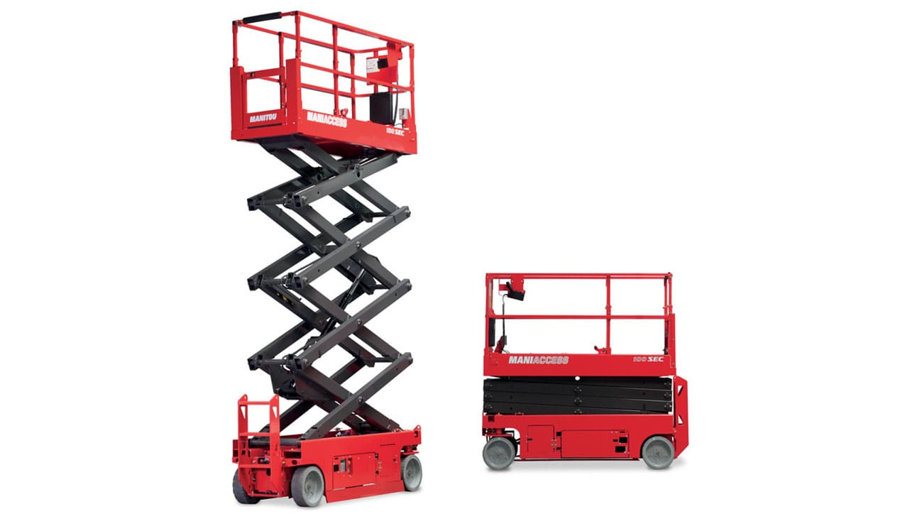 Manitou 100 SEC Scissor Lift For Rent