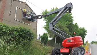 Manitou 160 ATJ + (400KG) Boom Lifts For Rent