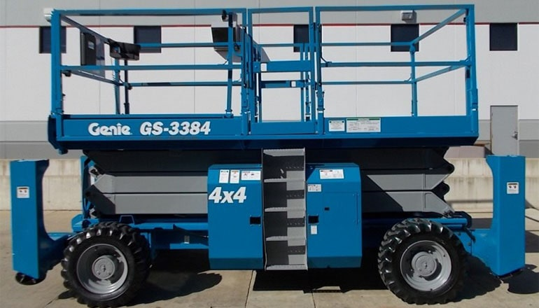 Genie 3384 RT Megadeck Scissor Lift For Rent