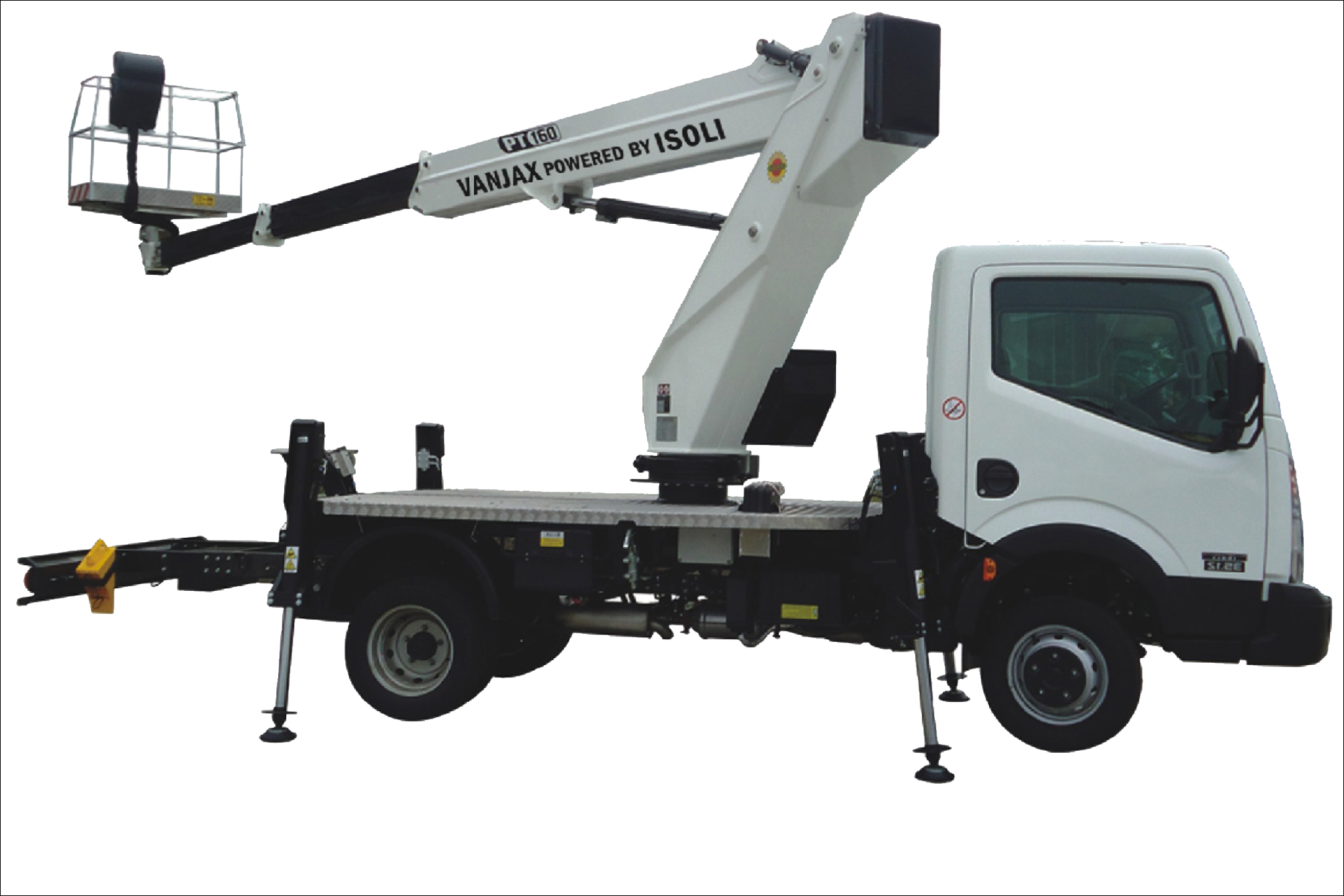 Hoogwerkers op vrachtauto om te werken op hoogte - Rentaga